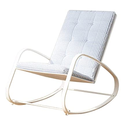 Amazon.com: Bseack_Store Chair Rocking Chair Simple Style Iron mesh ...