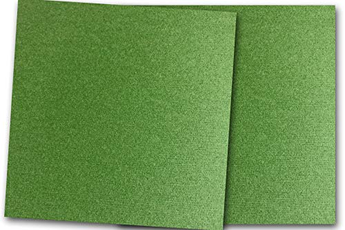 Highland Flat Sheet - Premium Canvas Textured Scottish Highland Green Card Stock 20 Sheets - Matches Martha Stewart Scottish Highland - Great for Scrapbooking, Crafts, Flat Cards, Folded Cards, DIY Projects, Etc. (12 x 12)