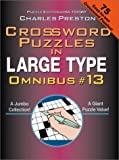 Crossword Puzzles in Large Type, Charles Preston, 0399526803