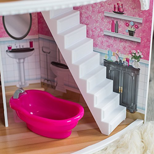 KidKraft Think Pink Corner Doll House Playset