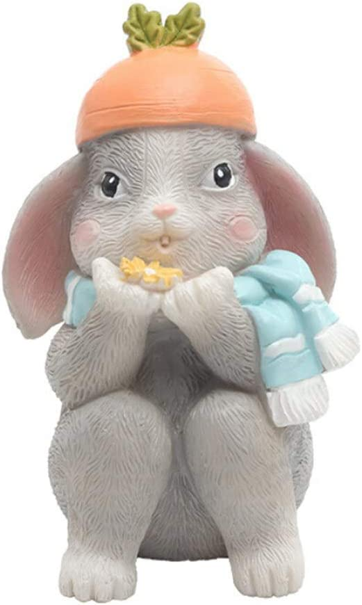 Smartcoco Cute Rabbit Decor Mini Animal Home Decoration Interior Toy Perfect Valentine's Day Easter Gift for Girls Boys