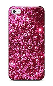 5721877K53259355 Excellent Design Glittery Pink Red Case Cover For Iphone 5c