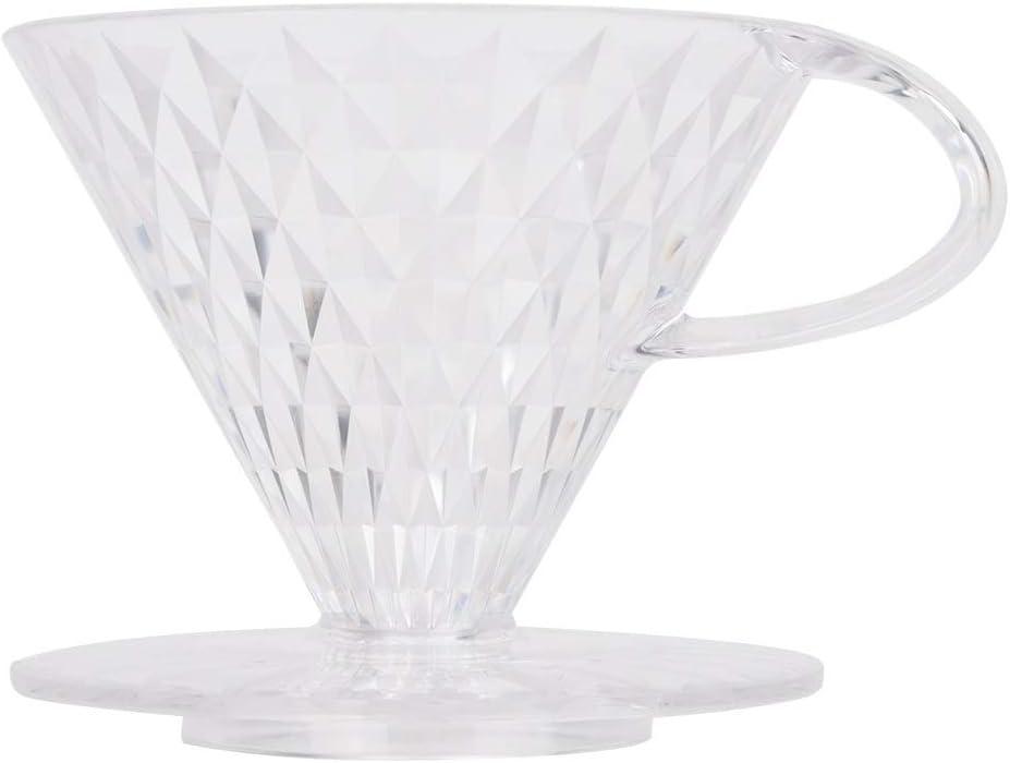 Coffee Dripper-Transparent Reusable Coffee Filter Crystal Shape Portable Coffee Dripper Filters