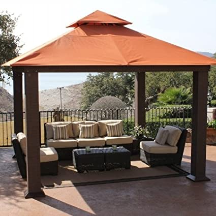 This gazebo offers a generous 12u0027x12u0027 coverage area and features a sturdy design and durable powder-coated heavy-gauge extruded aluminum frame. The canopy ... & Gazebo Buying Guide - The 50 Best Gazebos for Your Backyard in ...