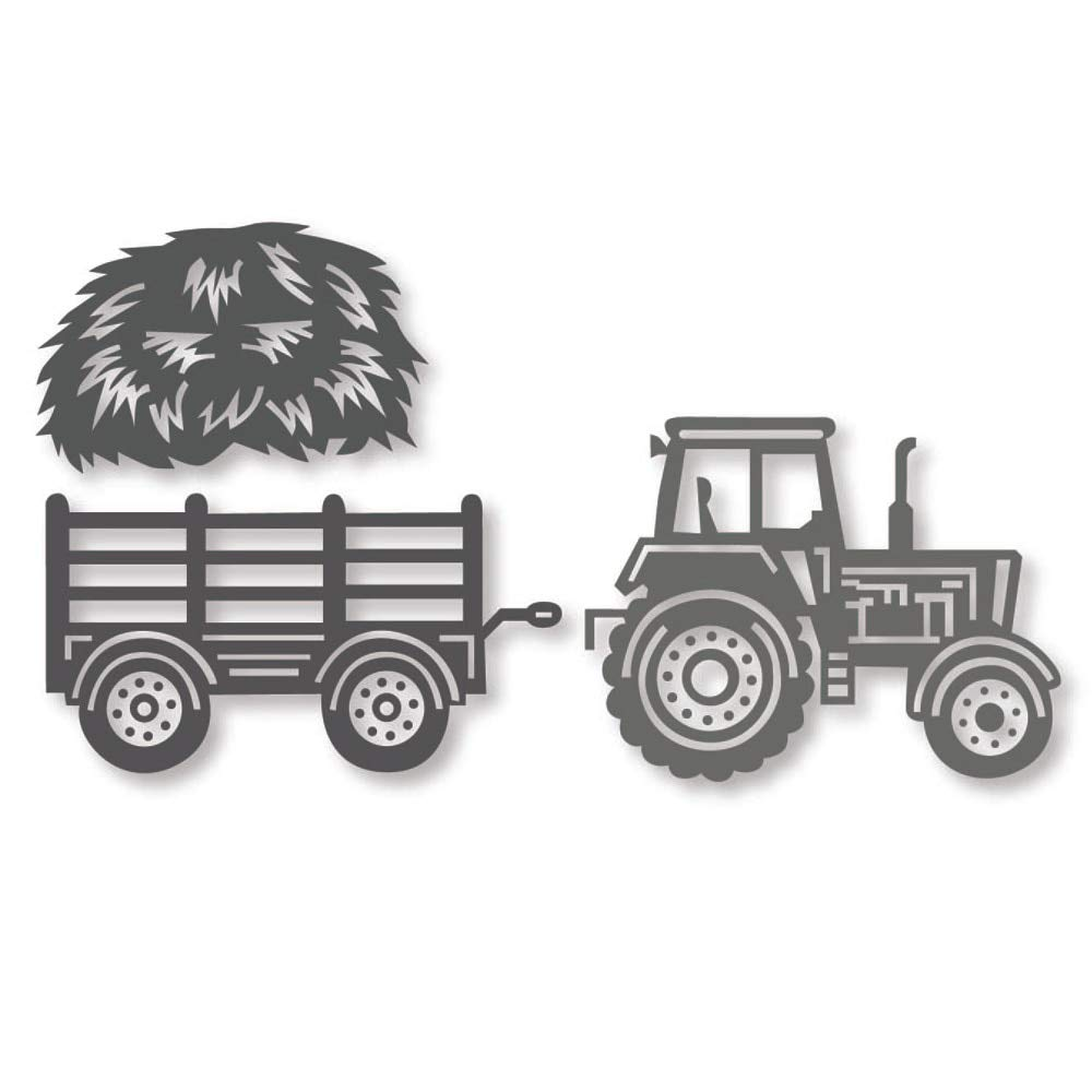 TRACTOR farm die cuts scrapbook cards