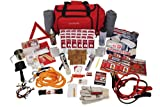 Guardian Survival Family Trip Road Emergency Kit, Red Duffle Bag