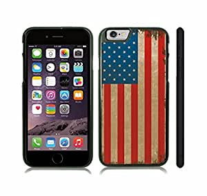 iStar Cases? iPhone 6 Case with American Antique Flag Grunge Design , Snap-on Cover, Hard Carrying Case (Black)
