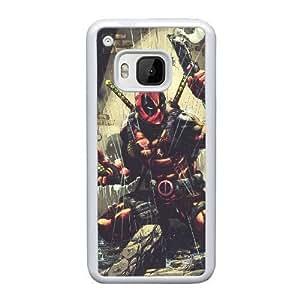 Deadpool H4V4Cl HTC uno M9 funda la caja del teléfono celular blanco T2I2WO funda caja del teléfono duro duro