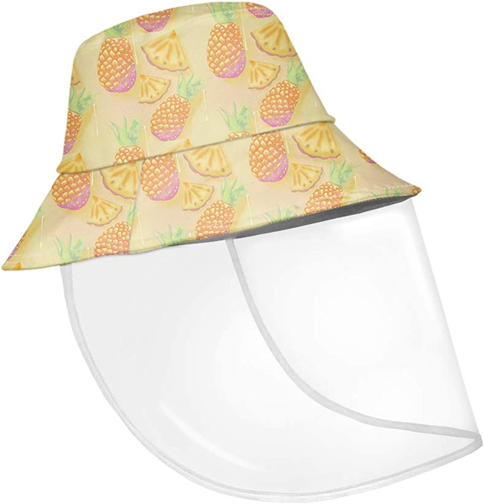 Anti-Spitting Clear Anti Fog Safety Protective Cap for Adults Pineapple Sunflower Face Shield Protective Fisherman Hat