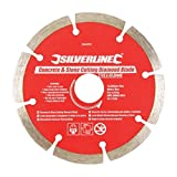 2 X Silverline 394979 Concrete and Stone Cutting Diamond Blade 115 x 22.2 mm