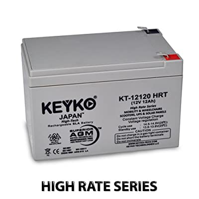 Best Cheap Deal for 12V 12Ah / Real 15Ah Deep Cycle AGM / SLA Battery for Wheelchairs Scooters Mobility UPS & Solar - Genuine KEYKO - F-2 Terminal from KEYKO Technologies LLC - Free 2 Day Shipping Available