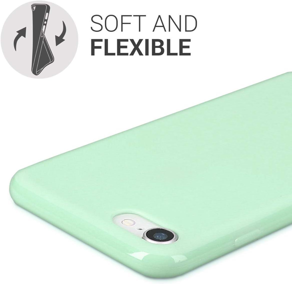 Coque pour Apple iPhone 7//8 Housse t/él/éphone Silicone Bleu m/étallique kwmobile Coque Apple iPhone 7//8
