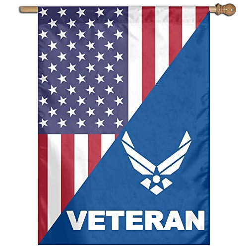 Veteran United States AIR Force American Flag Front Line Flags Art Banner Funny Garden Flag for Outdoor and Family Decoration