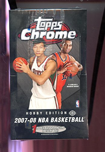 2007-08 Topps Chrome Set Hobby Edition NBA Basketball 07-08 Wax Pack Box 2008 Kevin Durant Rookie Card Possible