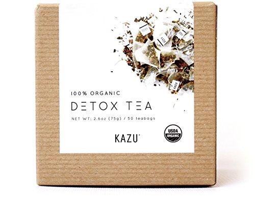 Kazu ® 100% USDA desintoxicación orgánica y pérdida de peso (dieta) té, perder peso en bolsitas de 12 días por tomar 2 al día (50 bolsitas de Pyramaid por más de 25 días de suministro)