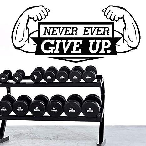 Fitness Motivación Home Gym Tatuajes de pared - Nunca te rindas ...
