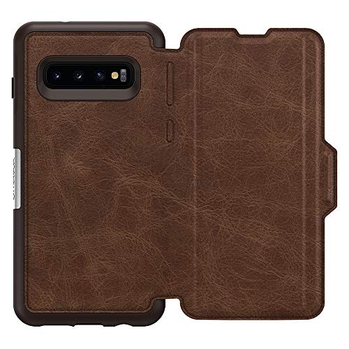 OtterBox STRADA SERIES Case for Galaxy S10 - Retail Packaging - ESPRESSO (DARK BROWN/WORN BROWN LEATHER) by OtterBox (Image #2)