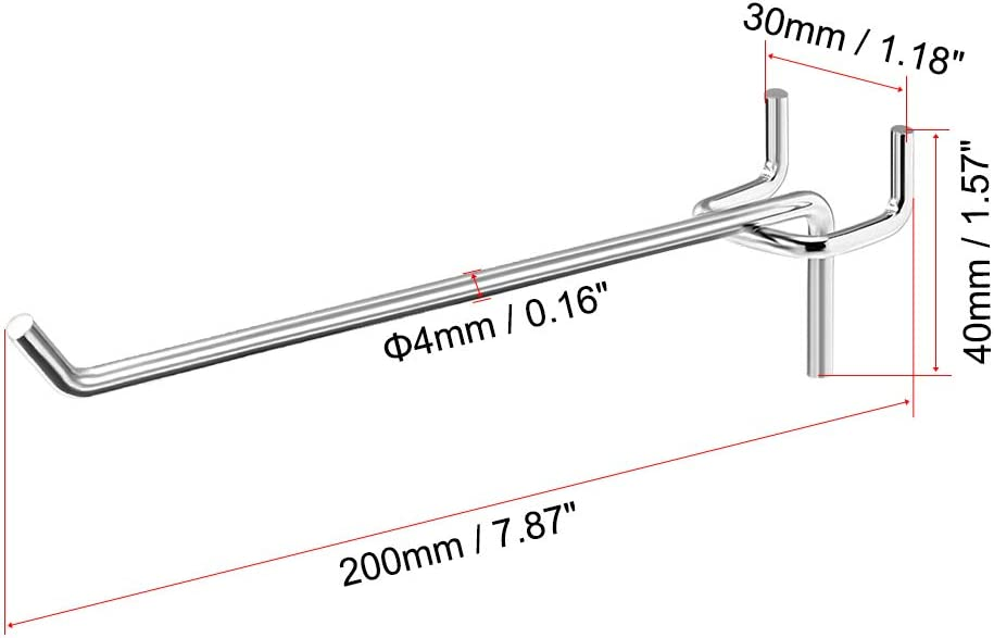 uxcell a13022300ux0071 Silver Tone Metal Foldable Rotary Closet Cabinet Door Hinges 1.2 inches Length Pack of 2