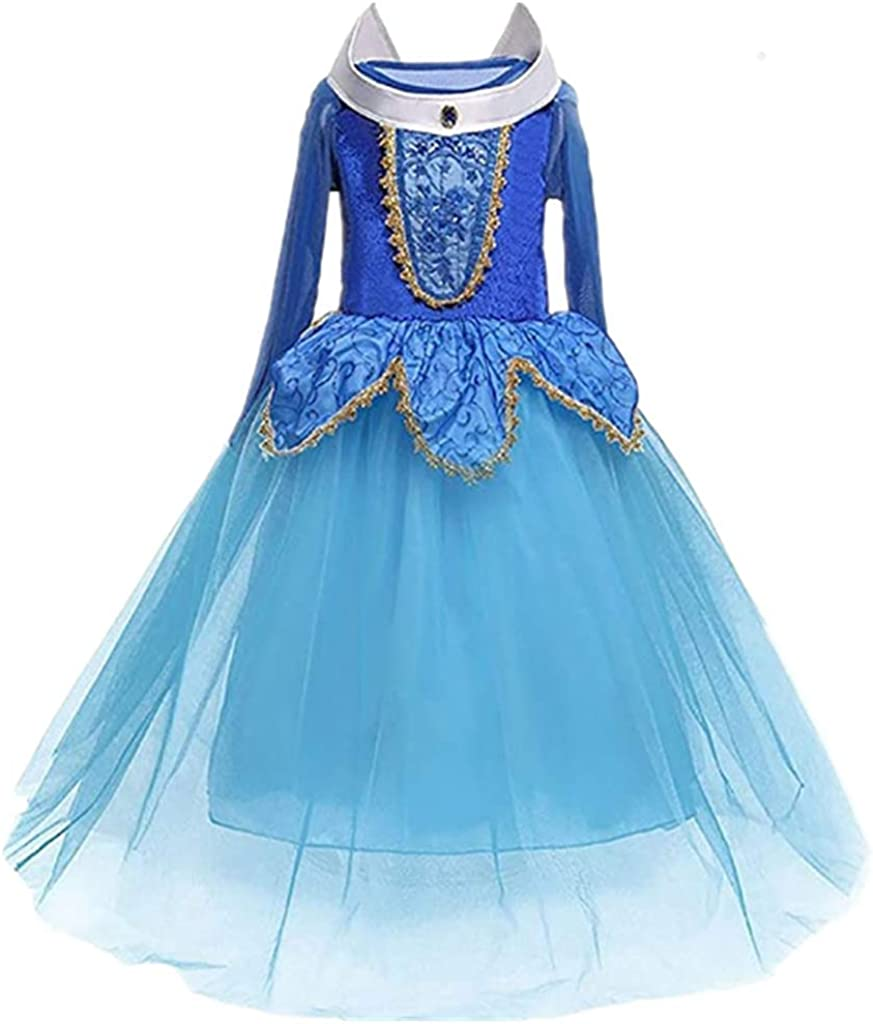 Girl Princess Fancy Role Playing Dress Sleeping Beauty Party Costume Age 3-10
