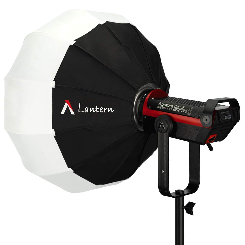 Aputure Lantern Softbox Soft Light Modifier, Aputure Space Light Upgraded in 2019 for Aputure 300D Mark II 120D 120T 120D Mark II 300D and Other Bowens Mount Light