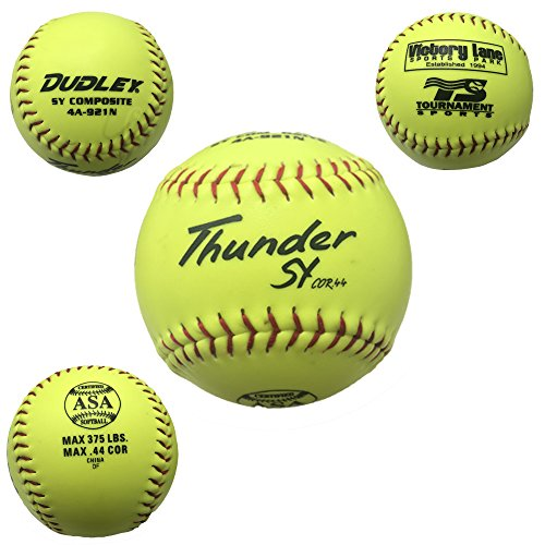 Dudley ASA Thunder SY COMPOSITE Slow Pitch Synthetic Soft Ball