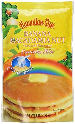 Banana Macadamia Nut Pancake Mix, 6 Ounce by Hawaiian - Hawaiian Water