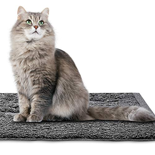 KGA Alfombrilla de Cama Rectangular para Gatos Trash Catcher Alfombra Multifunción 16