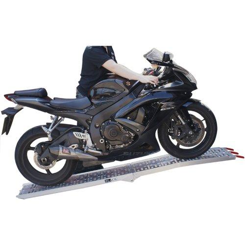 Black 1005 Rampe de chargement pliable pour moto en aluminium