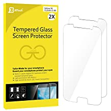 Galaxy S6 Screen Protector, JETech 2-Pack Premium Tempered Glass Screen Protector Film for Samsung Galaxy S6 - 0862