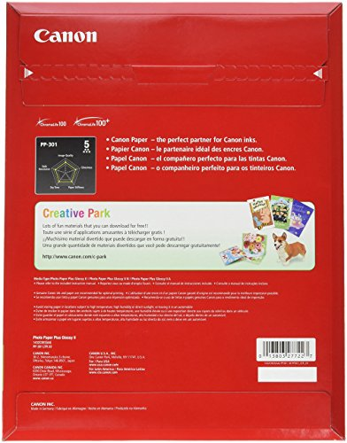 Canonink Photo Paper Plus Glossy Ii 85 X 11 20 Sheets 1432c003