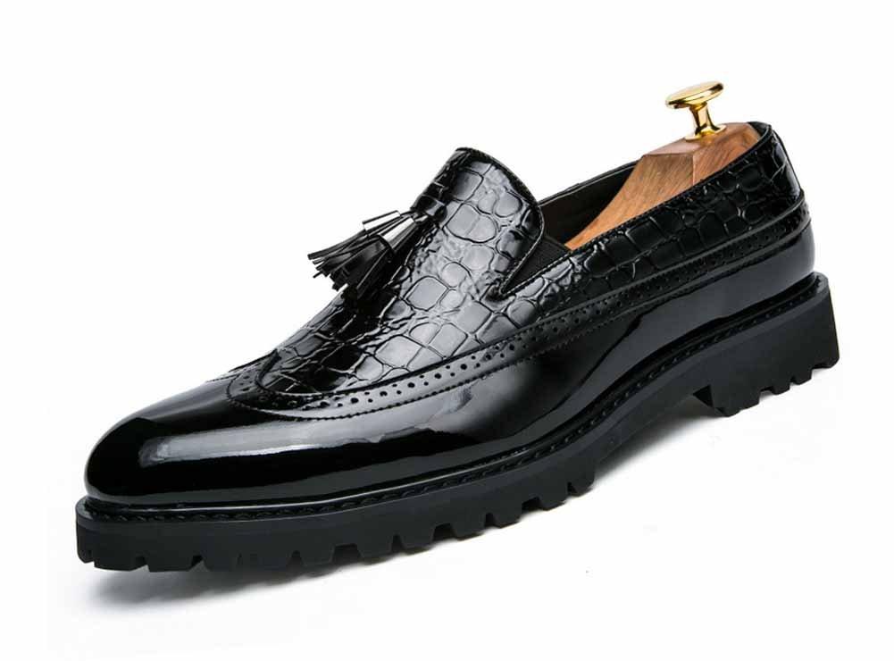 GLSHI Männer Spitzschuh Oxford Schuhe 2018 Sommer Fringe Stiefel Brogue Nachtclub Stylist Party Schuhe