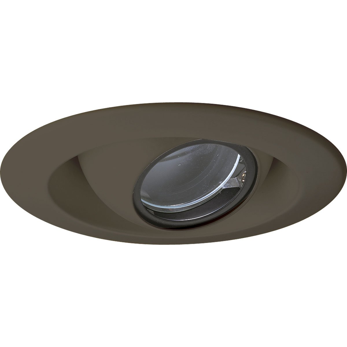 Progress Lighting P8057-20 Eyeball Trims That Have 360 Degree Positioning Lamps That Tilt 30 Degrees Maximum with 5-Inch Outside Diameter, Antique Bronze