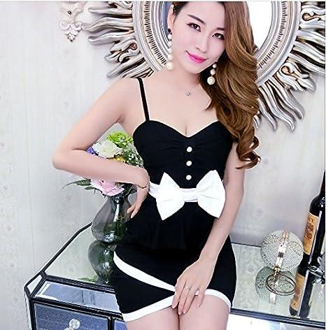 『ヴォーグ』(0069) リボン付ブラックキャバドレス 清楚系セクシーミニドレス 黒 M