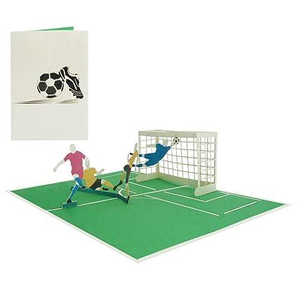 3d Pop Up Karte Fussball Geburtstagskarte Gutschein Grusskarte