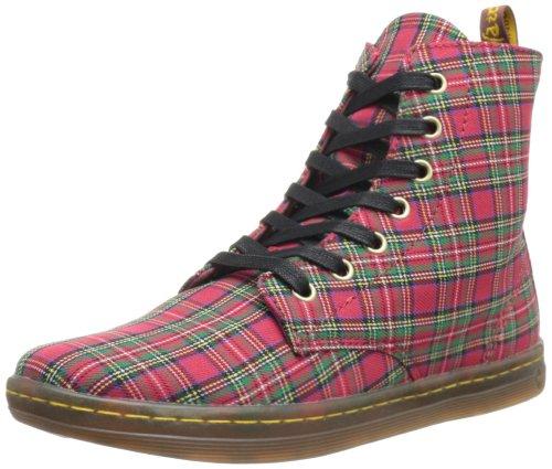 Dr. Martens Airwair Usa Llc -- Women's Hackney Lace-Up Fashion Sneaker,Red Stewart Tartan Plaid,4 UK/6 M (Red Plaid Sneaker)