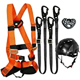 Fusion Climb Tactical Edition Kids Commercial Zip Line Kit Harness/Dual Lanyard/Trolley/Helmet Bundle FTK-K-HLLTH-03