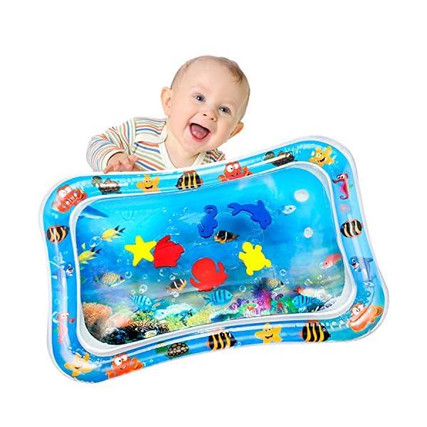 Yosemy Tapis d'eau Gonflable pour Bébé Tapis de Jeu Gonflé Coussin Gonflable de Rempli d'eau Amusement d'activité d'enfant Aider Développer les Compétences Cognitives 1