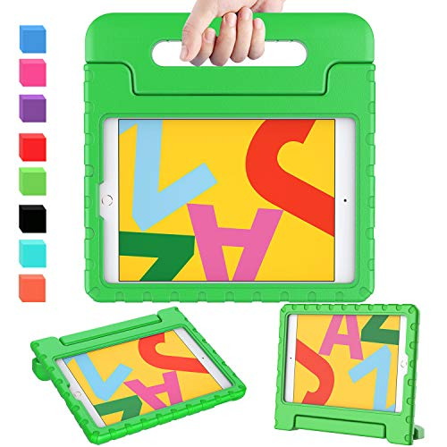 AVAWO Kids Case for New iPad 10.2 2019 - Light Weight Shock Proof Convertible Handle Stand Kids Friendly Case for iPad 2019 10.2-inch Tablet (New iPad 7th Generation) - Green