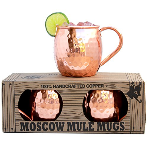 Morken Barware Moscow Mule Mugs - Each Mug 1/2 Pound In Weig
