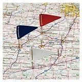 GEM GEM-MF375 - MAP FLAGS, PLASTIC, ASSORTED, 1 1/16amp;quot;, 75/BOX