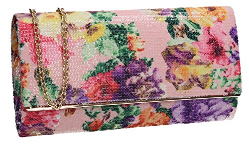 SWANKYSWANS Krya Flapover Floral Party Prom Wedding Night Out Celebrity Ladies Purse Evening Clutch ()