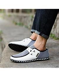 Men Office Shoes, Men Autumn Shoes Comfortable Casual Shoes Business Flat Shoes Formal Party Shoes (US:10, White)