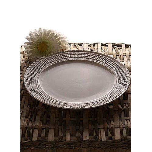 Belleek Galway Weave Dinner Plate (Weave Plate)