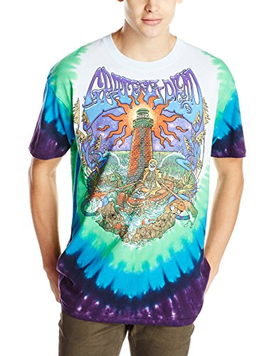 Liquid Blue Men's Grateful Dead-Watch Tower T-Shirt, Tie Dye, XX-Large