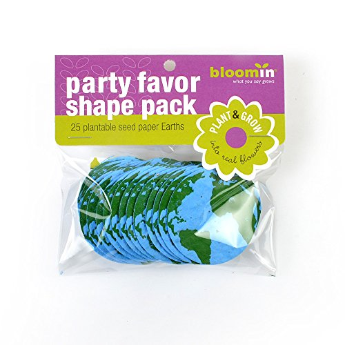 Bloomin Seed Paper Shapes Packs - Earth Shapes - 25 Shapes Per Pack - 2.1
