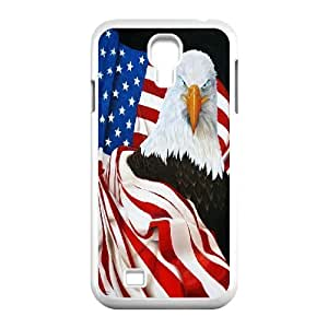 LIUMINGGUANG Phone case Style-14 -Bald Eagle On US Flags Design Protective Case For SamSung Galaxy S4 Case