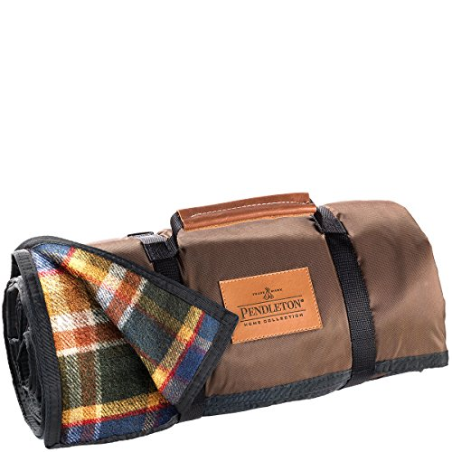 (Pendleton Roll Up Wool Blanket, Black, One Size)
