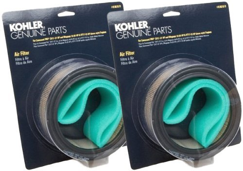 Kohler (2 Pack) 47 883 01-S1 Engine Air Filter With Pre-Cleaner Kit For KT17, KT19, KT21 Square Style, CH11 - CH15 And M18 - M20