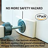 Wall Nanny (4 Pack - Made in USA) Indoor Baby Gate Wall Protector - No Safety Hazard Bottom Spindles - Improved Saver Small Compact Pad Saves Trim & Paint - Best Dog Pet Child Kid Pressure Gates Guard