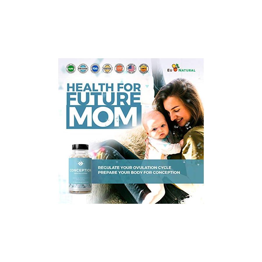 Conception Fertility Prenatal Vitamins Regulate Your Cycle, Balance Hormones, Aid Ovulation Myo Inositol, Vitex, Folate Folic Acid Pills 60 Vegetarian Soft Capsules